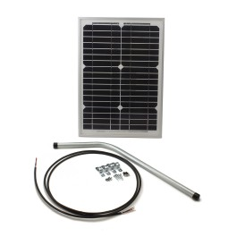 10 Watt Solar Panel w/ Mounting Hardware