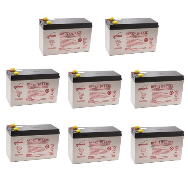 Battery, 12 Volt, 7.0 Amp Hr. (Pack of 8)