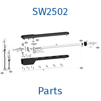 GTO / Linear Pro sw2502 gate opener parts
